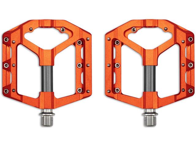 Cube RFR Flat SLT 2.0 Pedals orange´n´grey